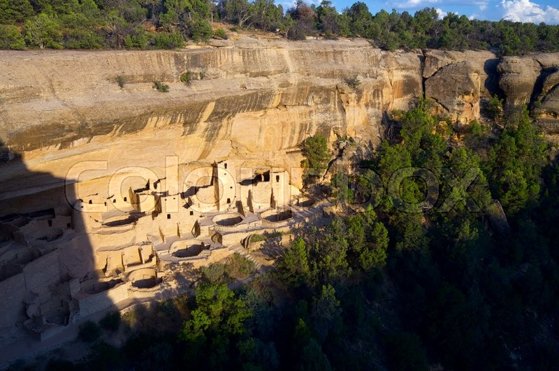 Stock image of 'Cliff Palace in Mesa Verde National Park, Colorado, United States'