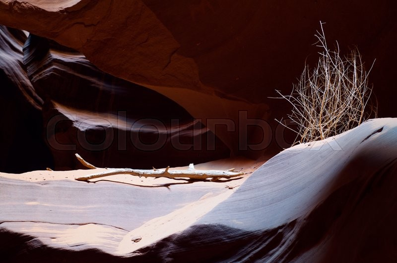 Stock image of 'abstraction created by sandstone walls of Antelope Canyon, USA'