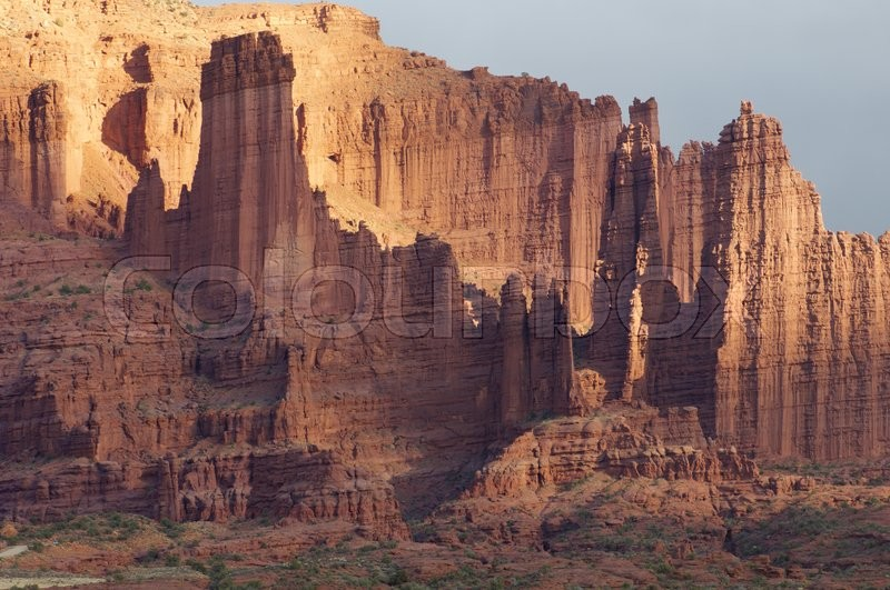 Stock image of 'Towers in the desert area known as \