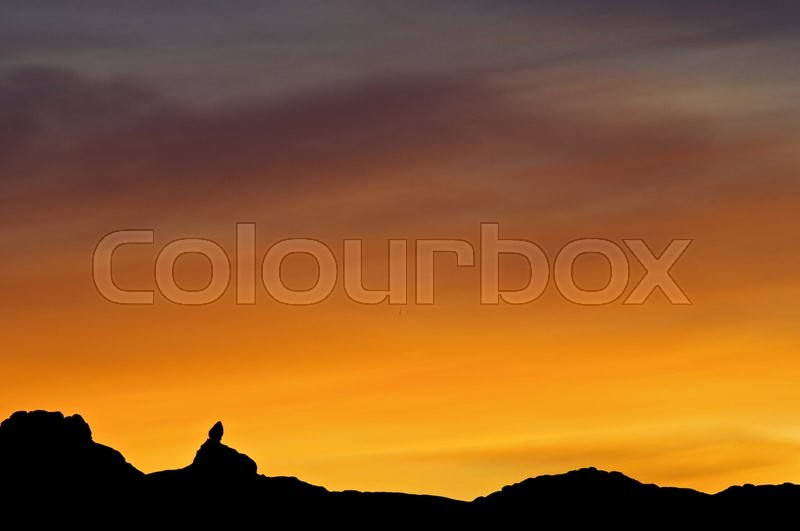 Stock image of 'Sunset in Arches National Park, Utah, United States.'