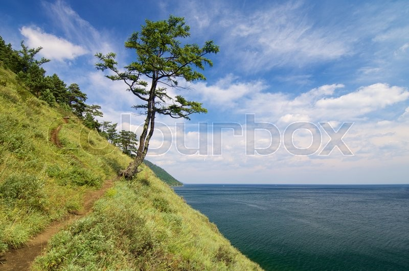 Stock image of 'shore of Lake Baikal  near the town of listvyanka, Siberia, Russia'