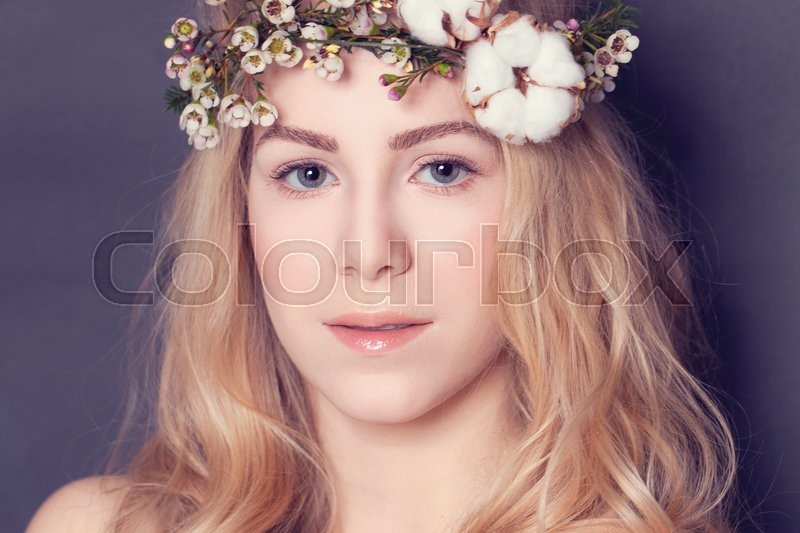 Stock image of 'Magnificent blond woman, sweet portrait'