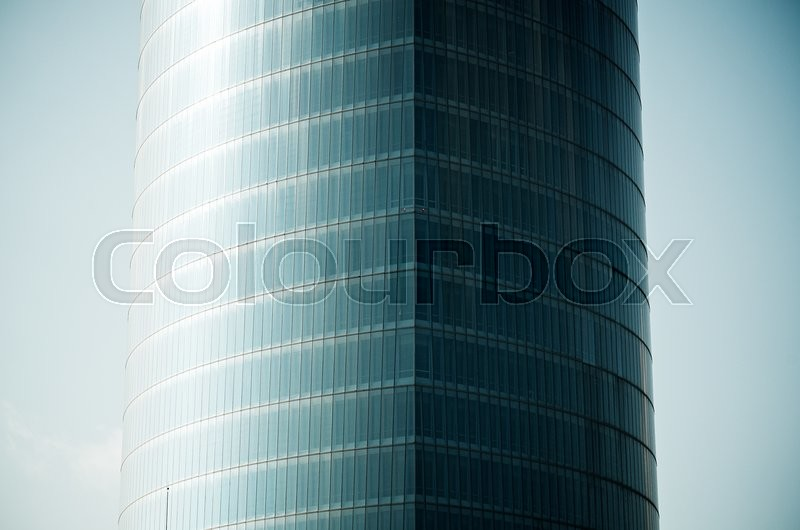 Stock image of 'forefront of the glass facade of a skyscraper'
