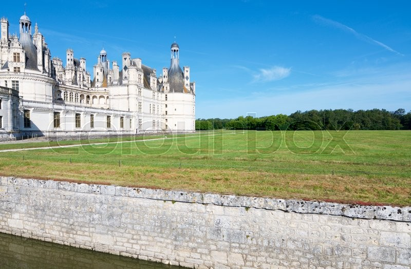 Stock image of 'Chambord Castle, Loire Valley, France. Built as a hunting lodge for King Francois I, this castle is the largest and most frequented of the Loire Valley.'