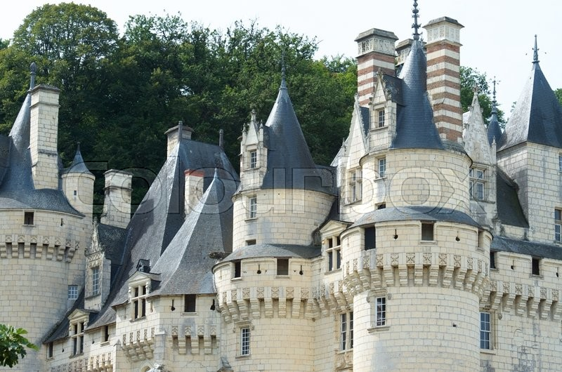 Stock image of 'Usse Castle in Loire Valley, Rigny-Usse, France. Known as the Sleeping Beauty Castle and built in the eleventh century is now a Historical Monument of France.'