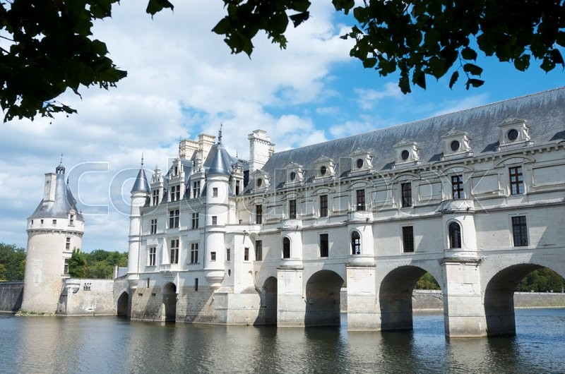 Stock image of 'view of the castle of Chenonceau, Loire Valley, France. Known as \