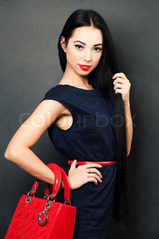 Stock image of 'Stylish woman with long hair'