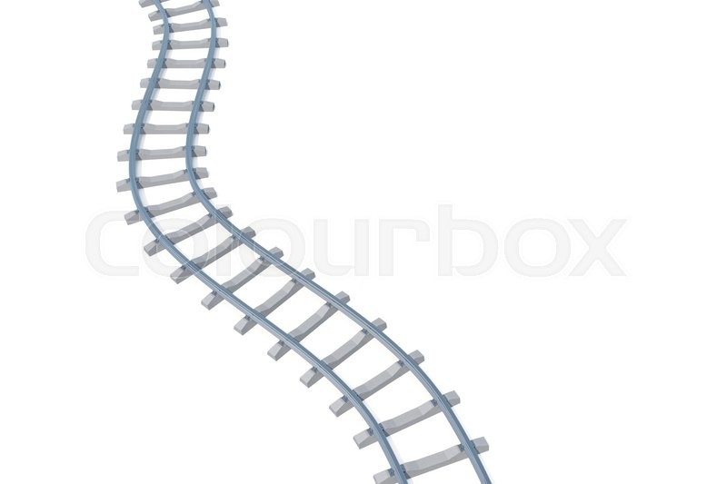 Stock image of 'Railroad aerial view isolated on white background. 3d illustration'