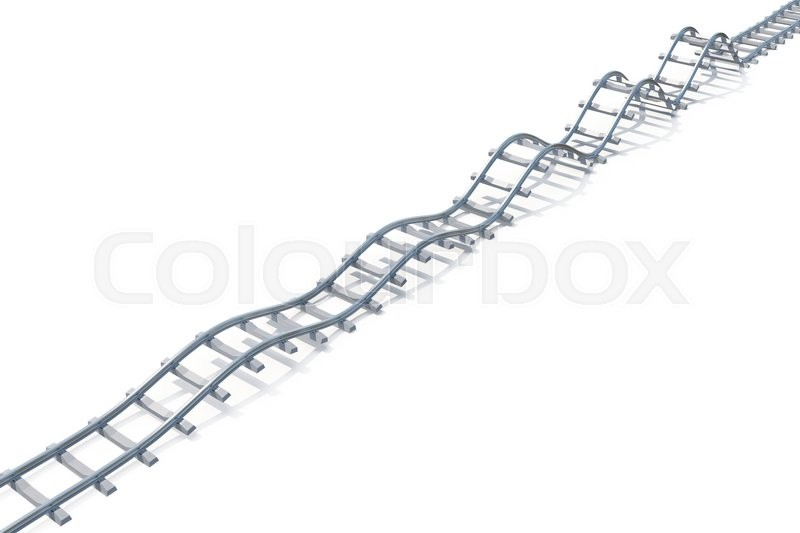 Stock image of 'Wave railroad aerial view isolated on white background. 3d illustration'