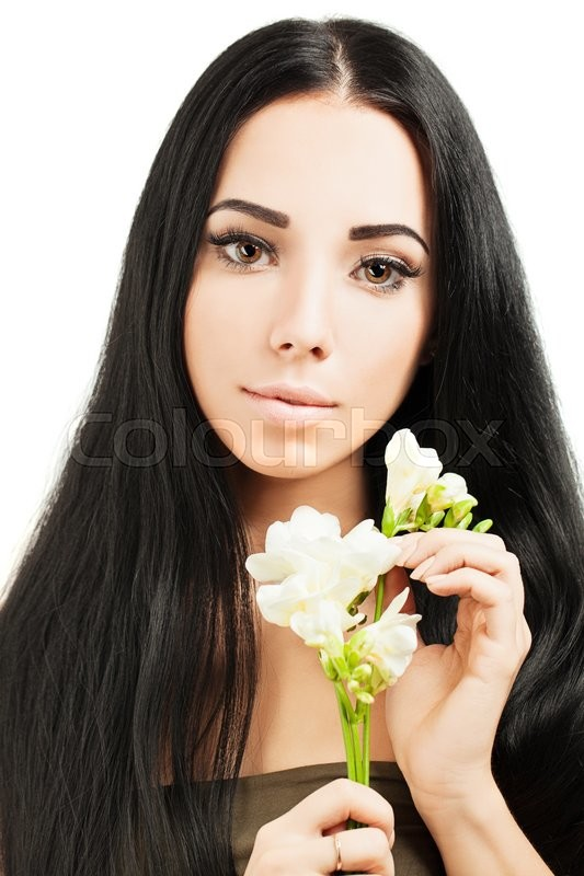 Stock image of 'Beautiful young woman with  healthy skin and hair'