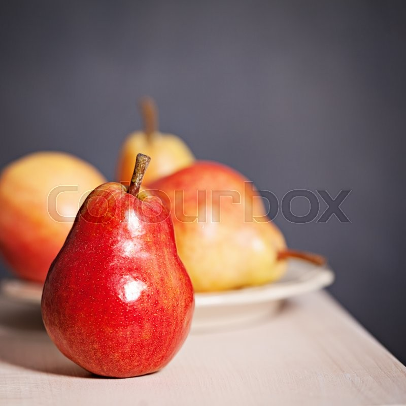 Stock image of 'Pear Fruit. Organic Food Background'