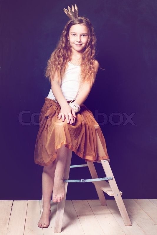 Stock image of 'Teen girl model. Little princess'
