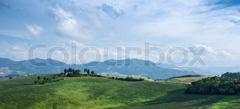 Stock image of 'Typical Italian landscape in Tuscany'