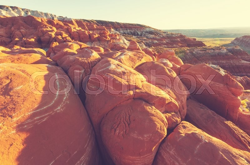 Stock image of 'Sandstone formations in Nevada'
