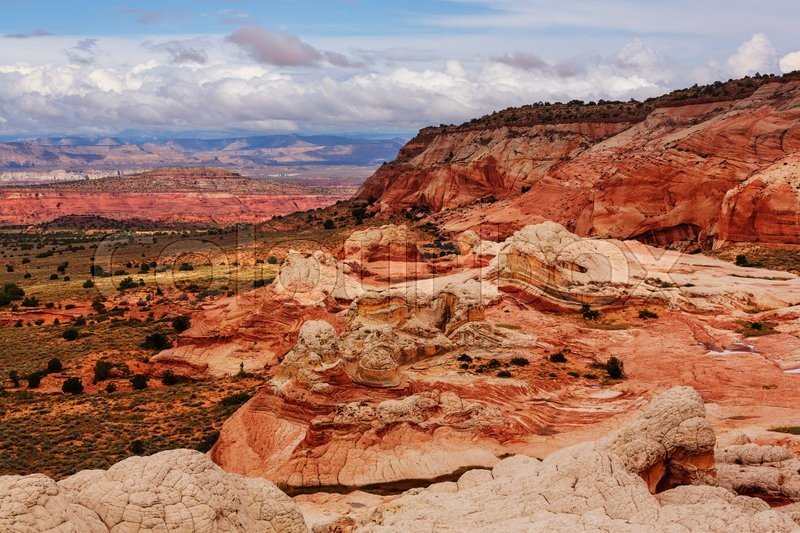 Stock image of 'Coyote Buttes of the Vermillion Cliffs Wilderness Area, Utah and Arizona'
