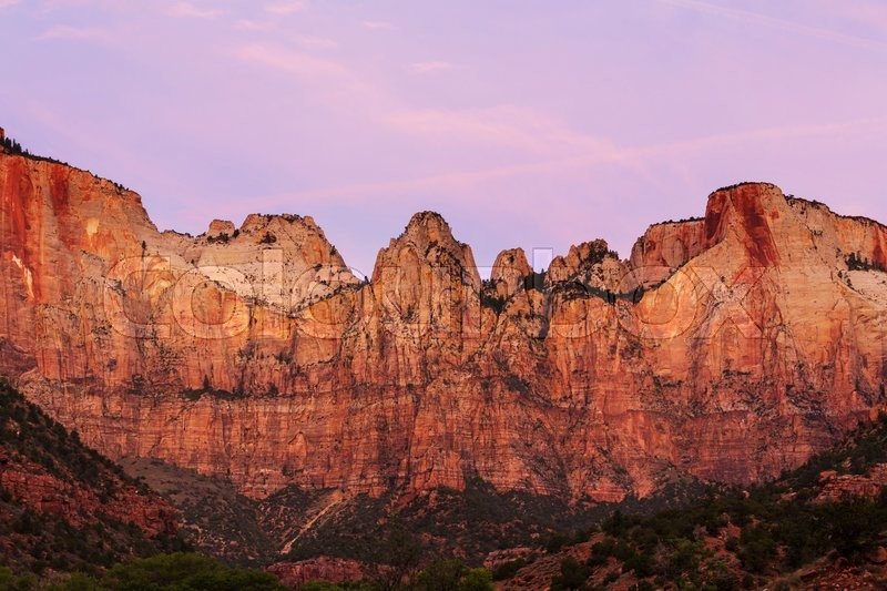 Stock image of 'Hike in Zion National Park'
