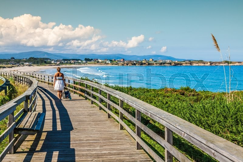 Stock image of 'Beach of the Cathedrals in Ribadeo, Galicia, Spain'