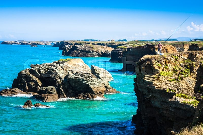 Stock image of 'Beach of Las Catedrales or As Catedrais, Ribadeo, Galicia, Spain'