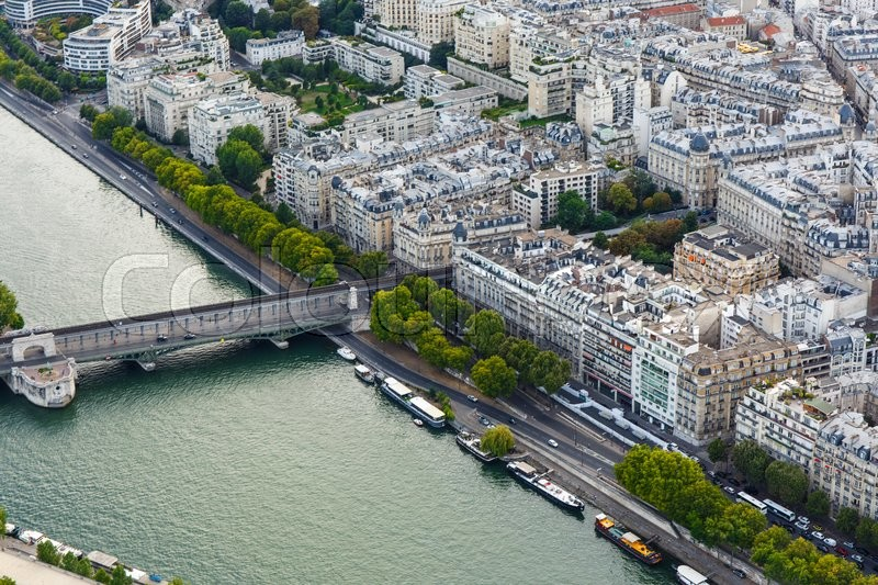 Stock image of 'View of the Seine from the Eiffel tower. Paris, France.'