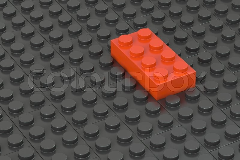 Stock image of 'Leader concept from building blocks, 3D rendering'
