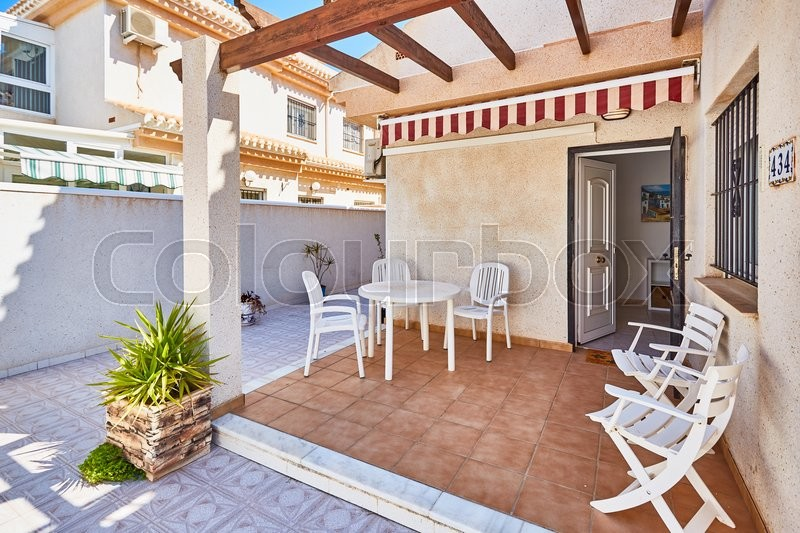 Editorial image of 'Orihuela, Spain- June 06, 2016: Villas for tourists near the sea in Spain in the region Orihuela.'