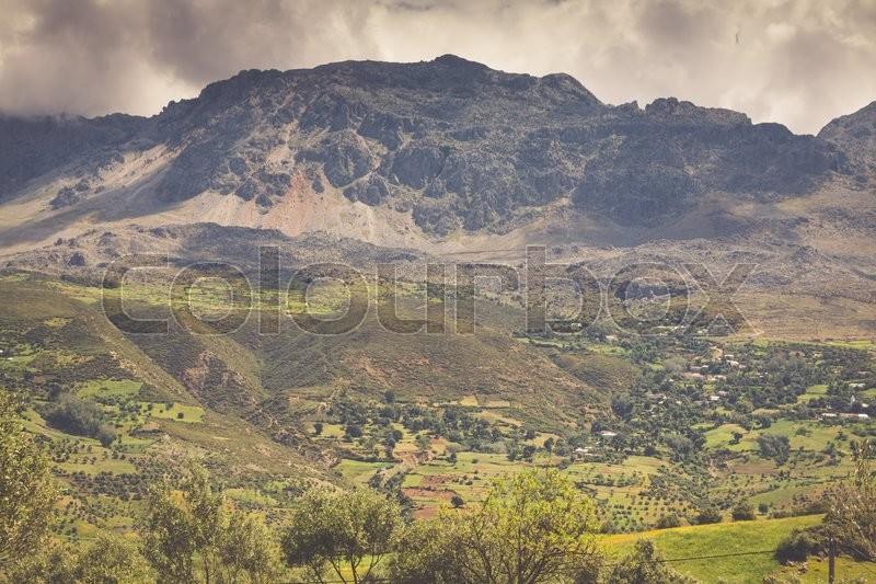 Stock image of 'Rif Mountains landscape, Morocco, Africa'
