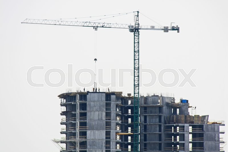 Stock image of 'Building montage crane'