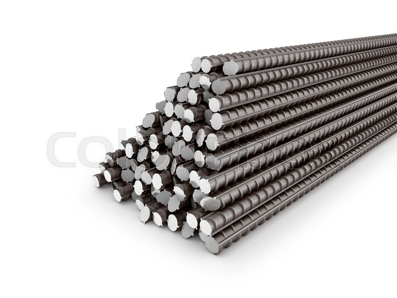 Stock image of 'The bars of reinforcement. A set of reinforced steel. 3D illustration'