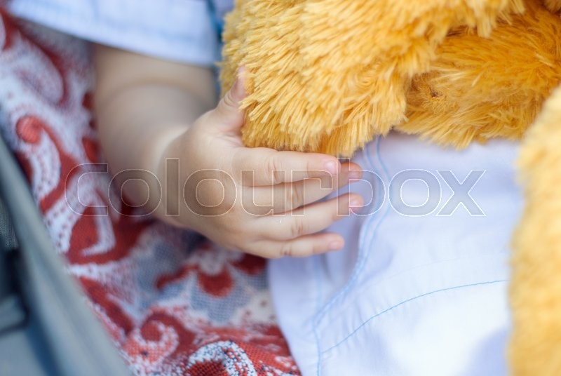 Stock image of 'Small child's hand'
