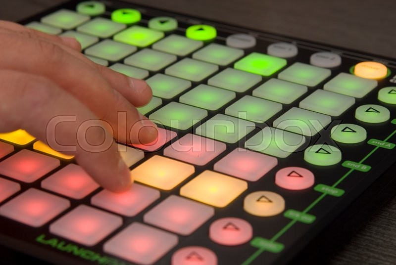 Stock image of 'Professional Dj installation for mixing and playing tracks'