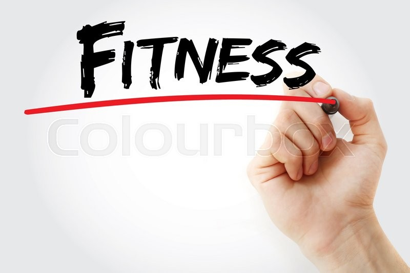Stock image of 'Hand writing Fitness with marker, concept'