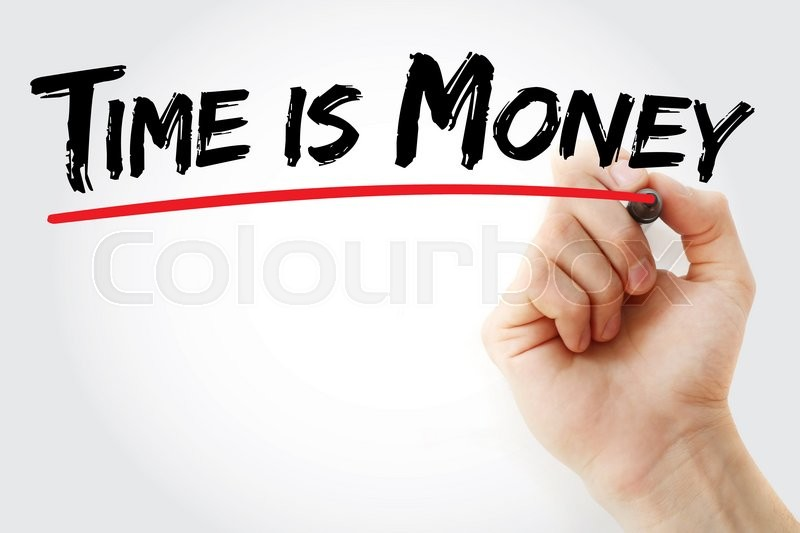 Stock image of 'Hand writing Time is money with marker, business concept'