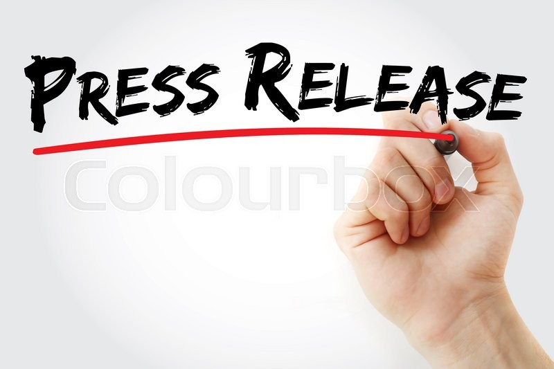 Stock image of 'Hand writing Press Release, business concept'