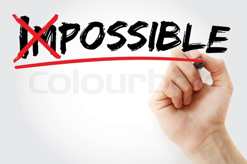 Stock image of 'Turning the word Impossible into Possible, business concept'