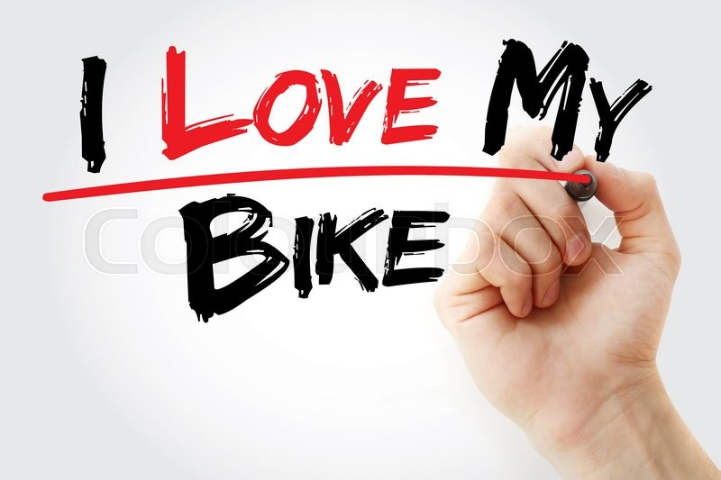 Stock image of 'Hand writing I love my Bike with marker, concept'