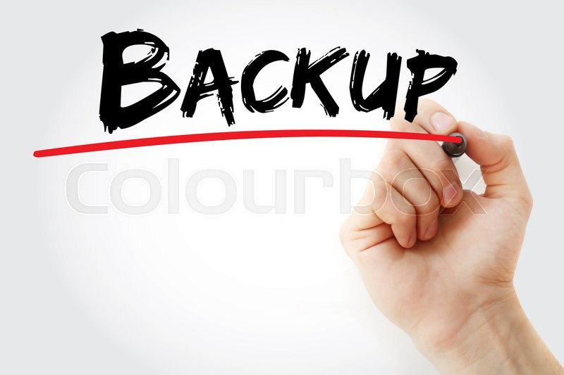 Stock image of 'Hand writing Backup with marker, business concept'