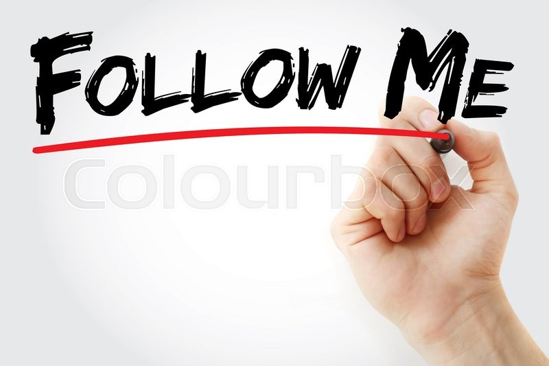 Stock image of 'Hand writing Follow Me with marker, business concept'