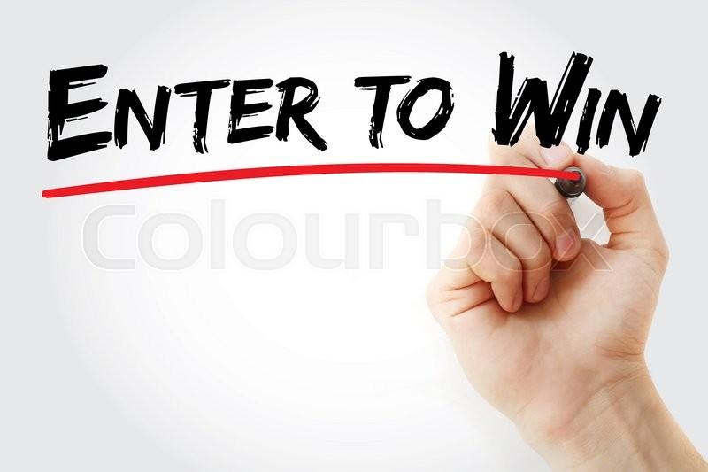 Stock image of 'Hand writing Enter to Win with marker, business concept'