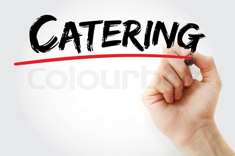 Stock image of 'Hand writing Catering with marker, business concept'