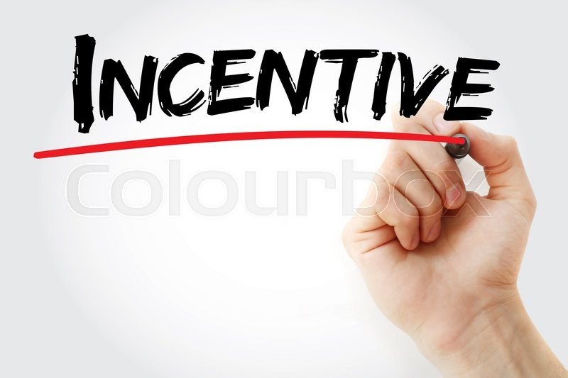Stock image of 'Hand writing Incentive with marker, business concept'