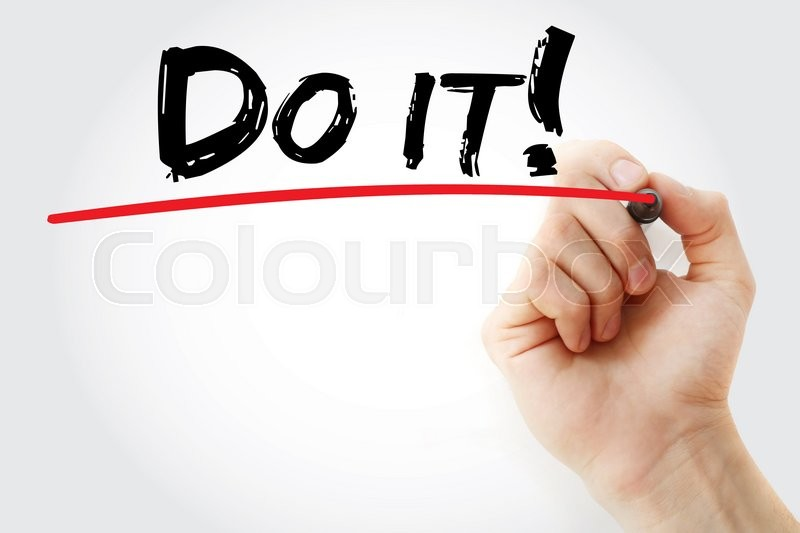 Stock image of 'Hand writing Do it with marker, business concept'