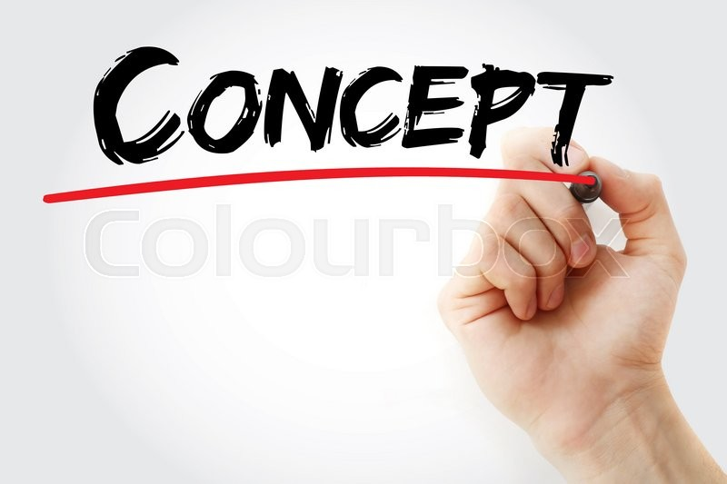 Stock image of 'Hand writing Concept with marker, business concept'