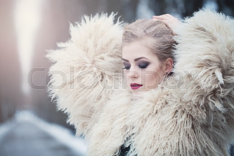 Stock image of 'Magnificent Woman in Winter Park'