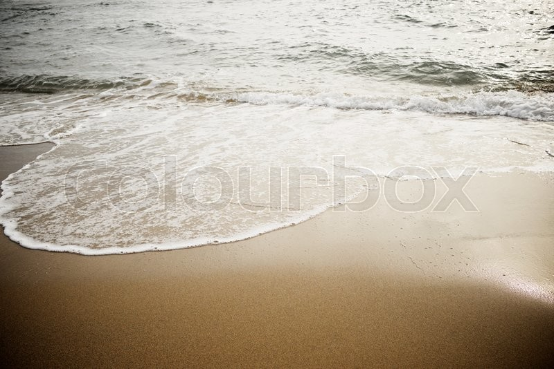 Stock image of 'Waves in the Mediterranean Sea, Spain.'