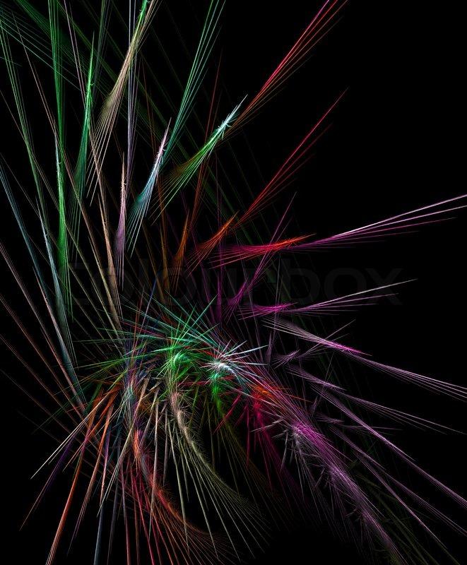 illustration fractal background clocks - photo #11