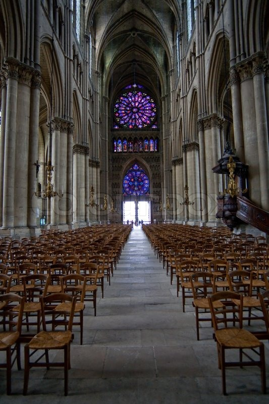 the middle pace in notre dame cathedral in reims france stock photo colourbox. Black Bedroom Furniture Sets. Home Design Ideas