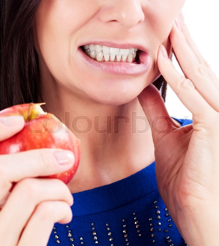 Stock image of 'Woman with a toothpain'