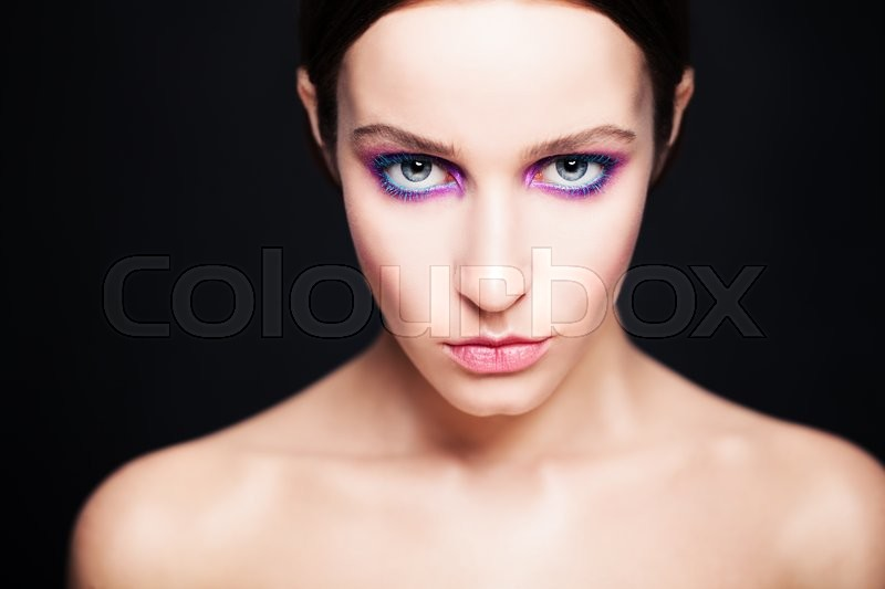 Stock image of 'Glamorous Woman with Fashion Makeup'