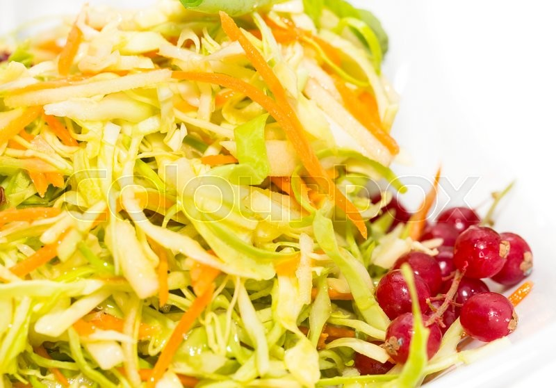 Stock image of 'Thai salad of exotic vegetables on a white background'