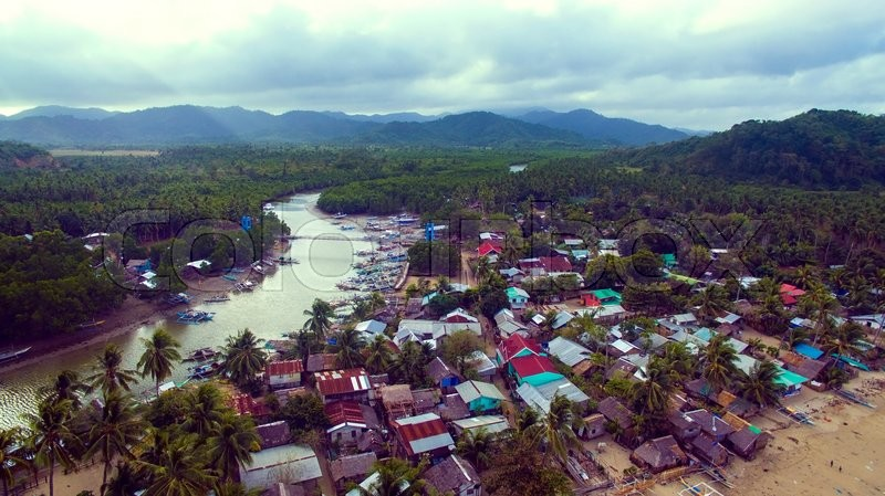 Stock image of 'Photos landscape of the Philippine Islands aerial view'